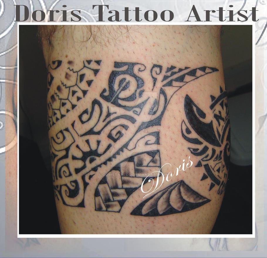 6ac167397 LEG maori TATTOO by doristattoo on DeviantArt