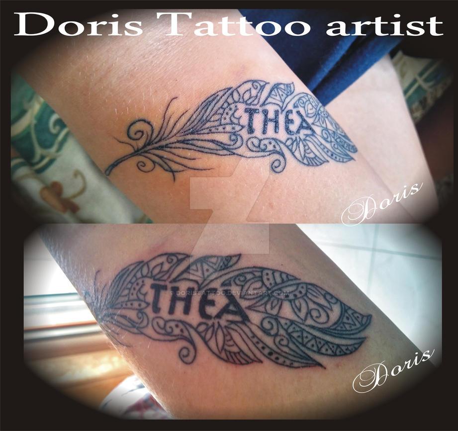 Maori Feather Tattoo: Maori Feather Arm Tattoo By Doristattoo On DeviantArt