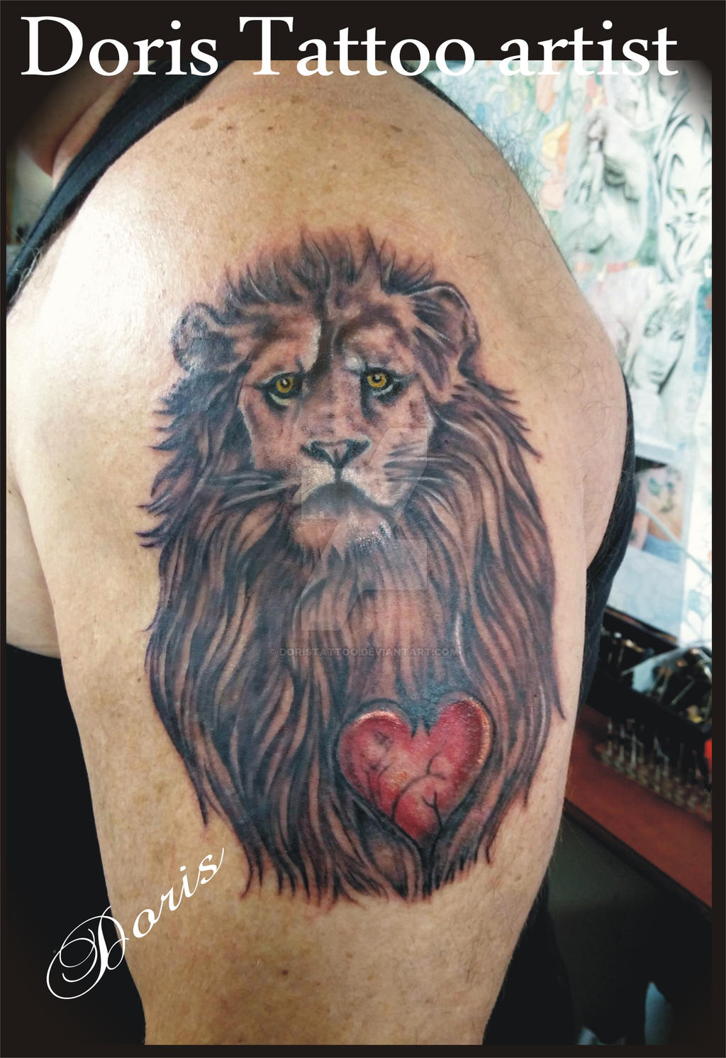 Heart of a lion tattoo