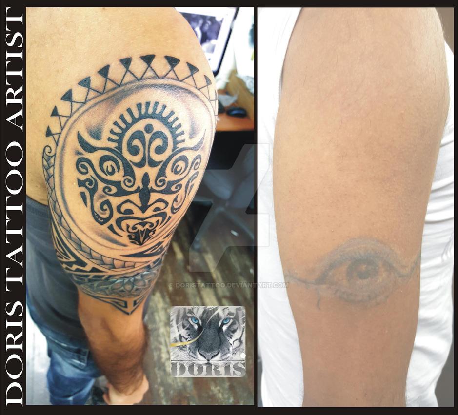 f44b98c7d maori arm cover tattoo by doristattoo on DeviantArt