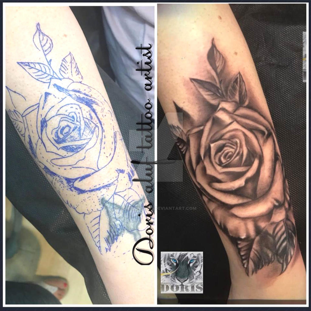 Rose Arm Tattoo Cover Up By Doristattoo On Deviantart