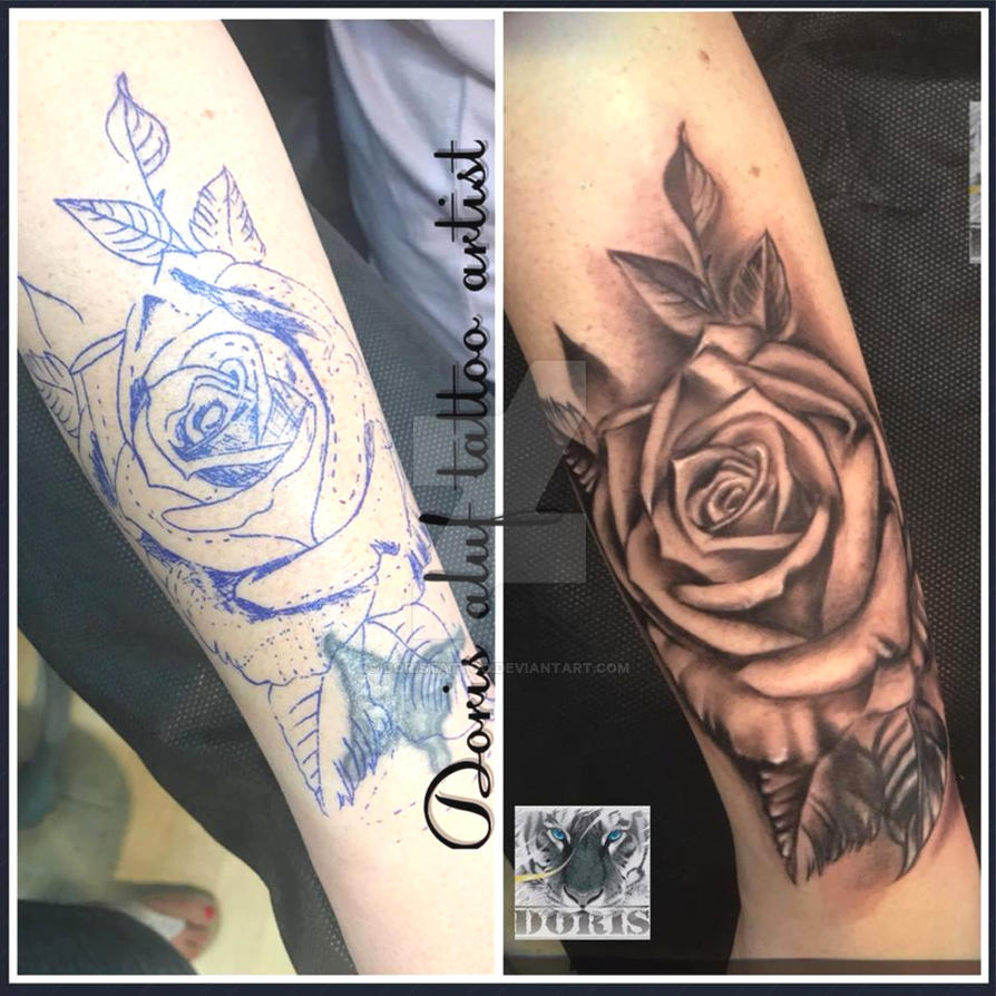 4ac57d105 rose arm tattoo cover up by doristattoo on DeviantArt