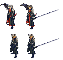 Old sprite: Sephiroth by Blackhook