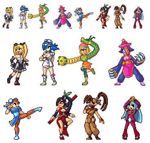 R Pixel Day Requests Fighting Game Girl Edition By Blackhook On Deviantart