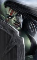 Female Orc Warrior by Liarath