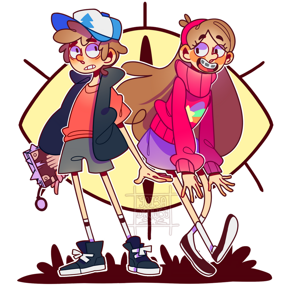 FANART Gravity Falls - Dipper and Mabel Pines by ...