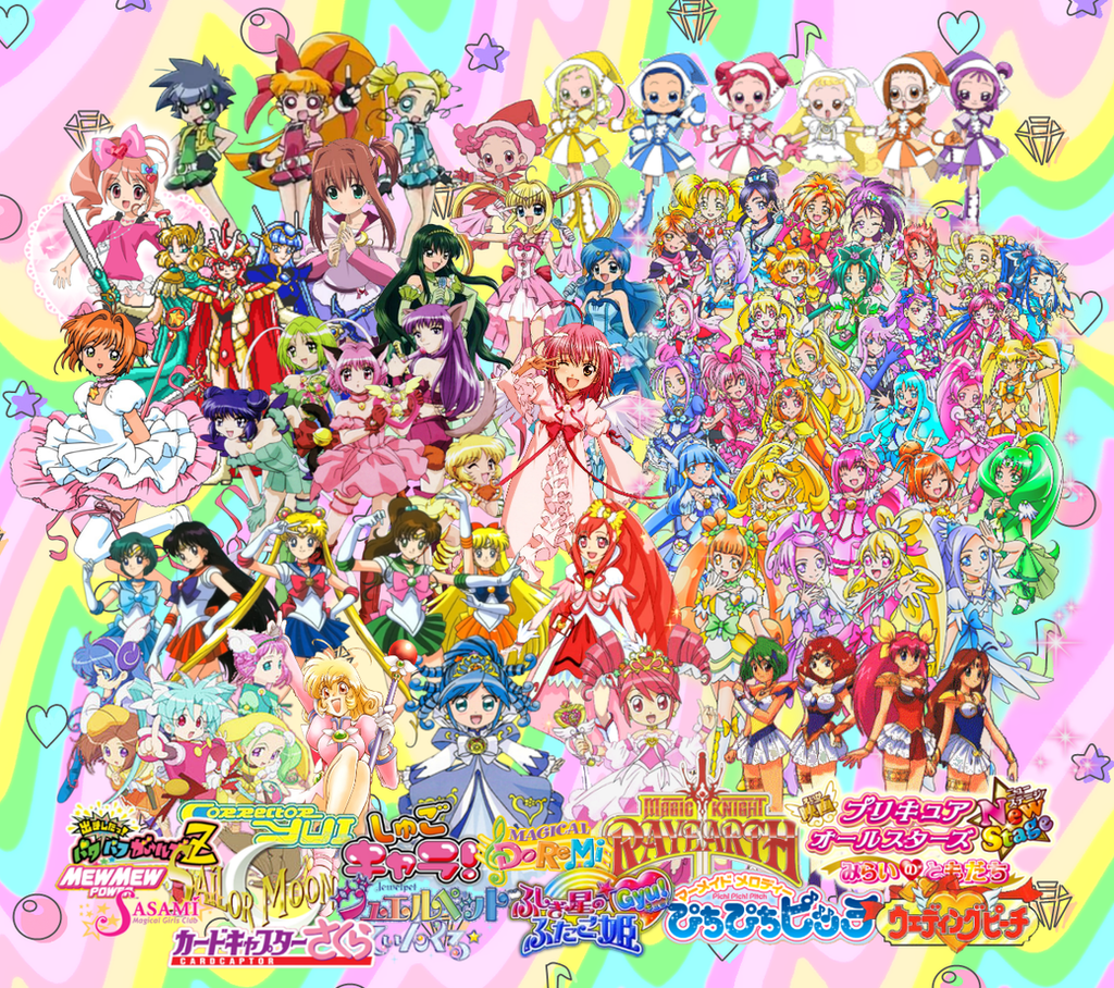 Magical Girl Collage