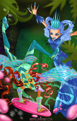 Battle between good and evil (Aisha and Icy)