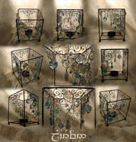 Small lamp - wire weaving2 by Laurefin-Estelinion