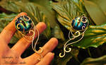 Blue cat's eye - patterned pendant