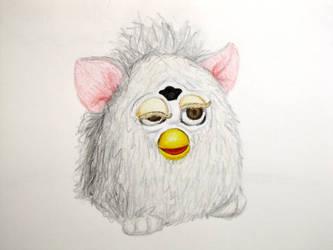 Herpy Derpy Furby by elooly