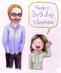 Stephen Merchant's Birthday by elooly