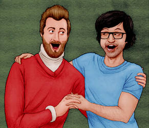 ''I Miss You'' - Rhett and Link by elooly