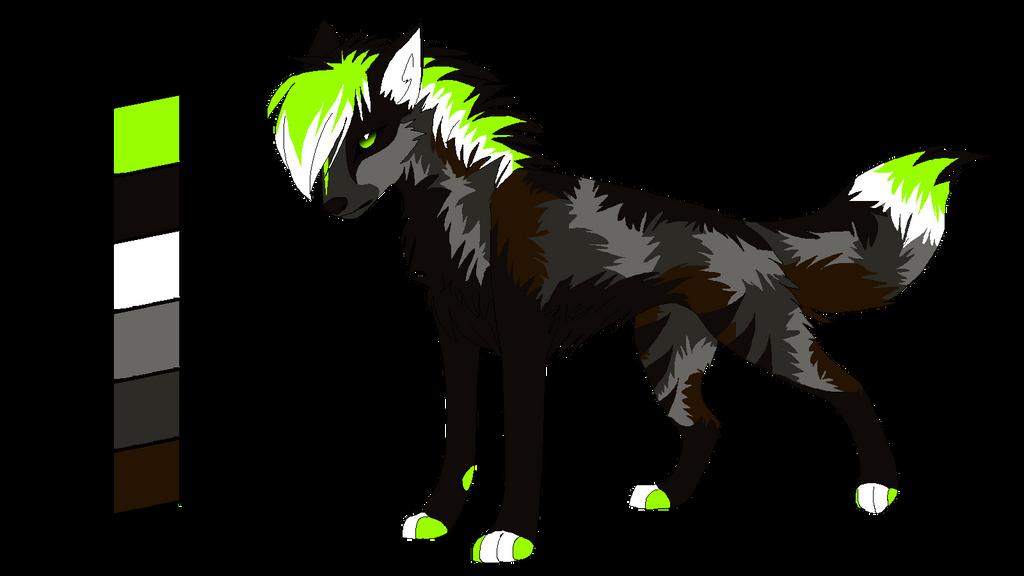 Kidract wolf reference by Yewneko-chan14