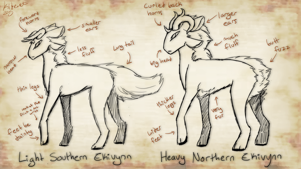 Ekivynn breed reference by Yewneko-chan14