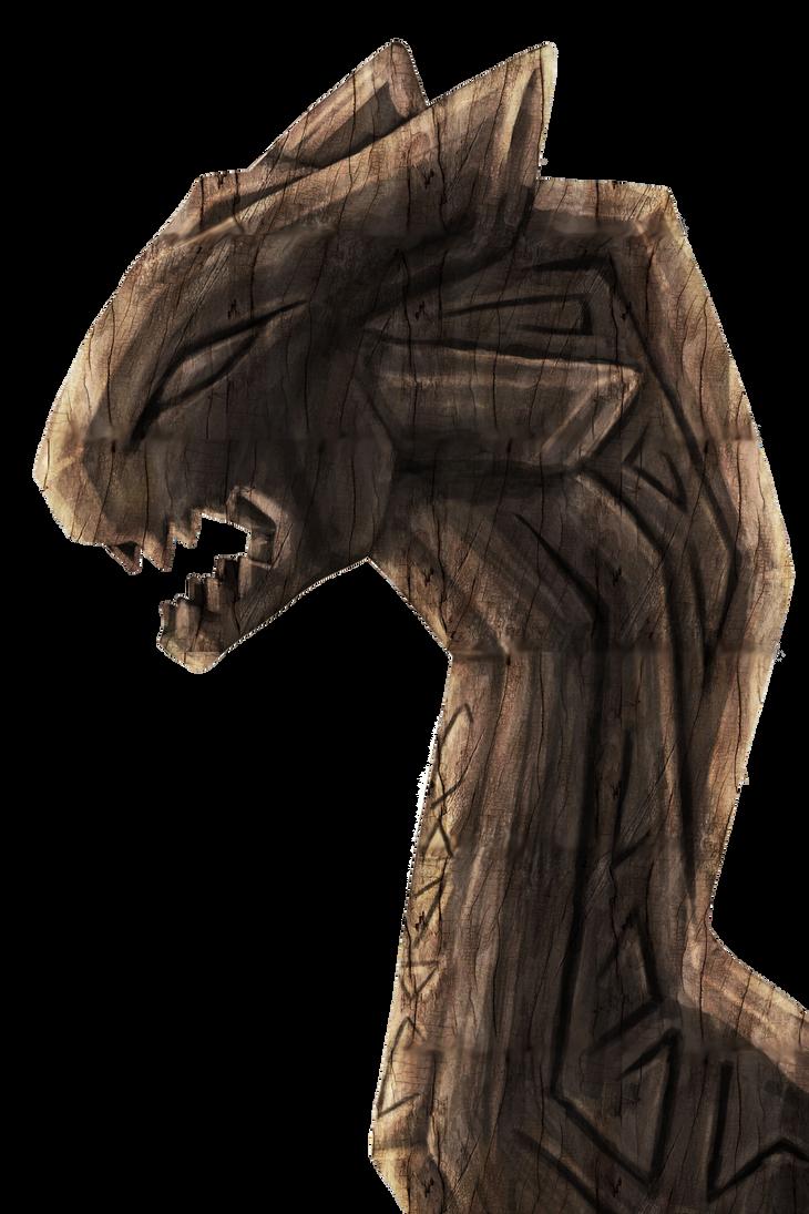 Wooden Phiagi Head Carving Concept by Yewneko-chan14