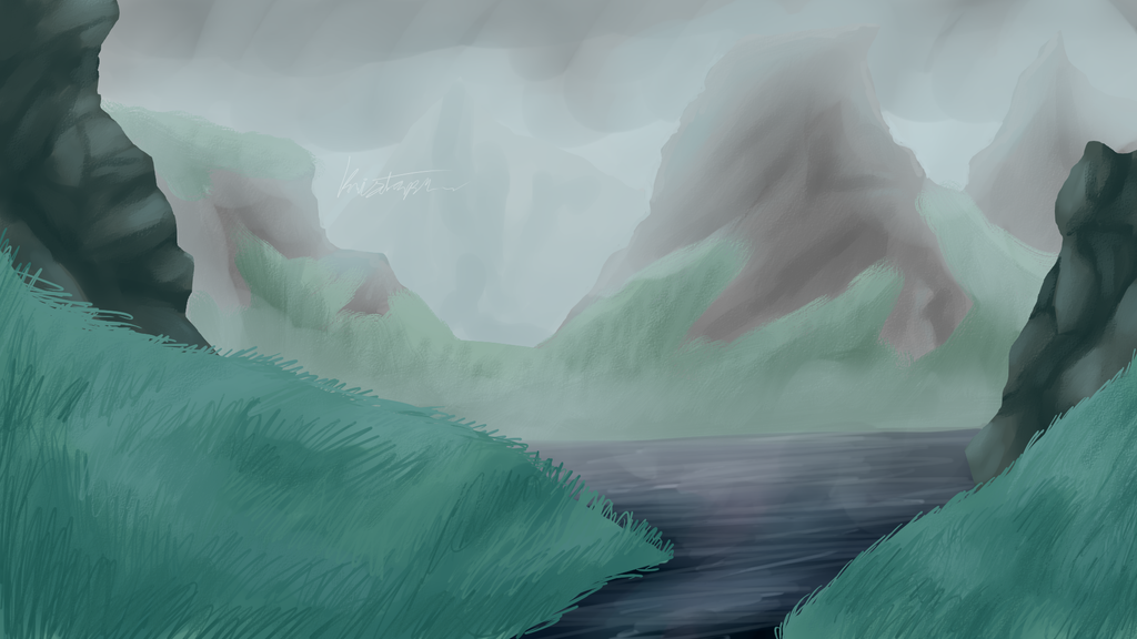 Overcast background test by Yewneko-chan14