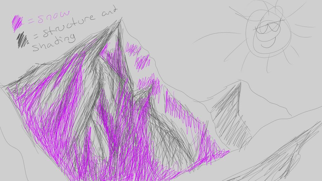 Mountain study sketch 1 by Yewneko-chan14