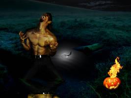 Werewolf and Jack O'lantern