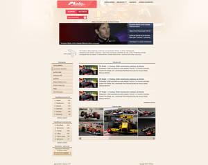 Layout portalu F1Info