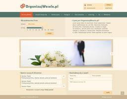 OrganizujWesele - layout pod portal weselny