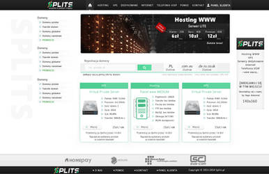 Layout Splits uslugi internetowe