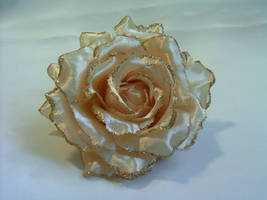 Champagne Fabric Flower 01 by sweetlilfly
