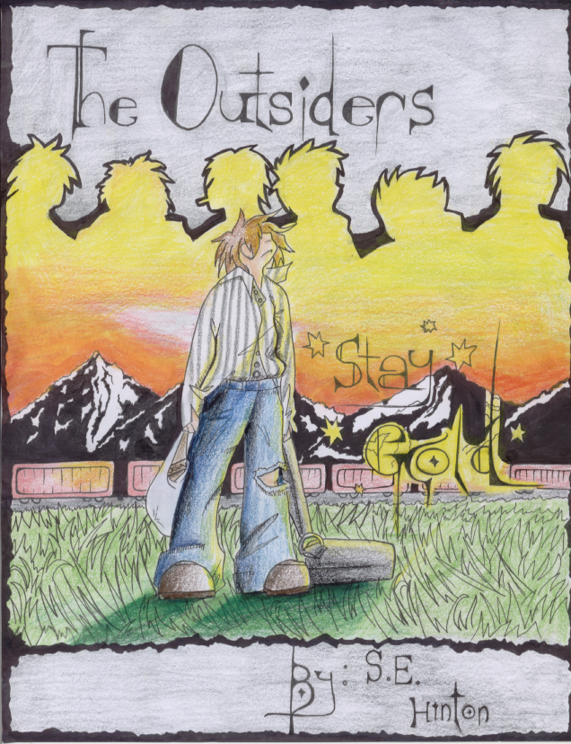The Outsiders Drawing Book Cover ~ The outsiders book cover by jaerai on deviantart