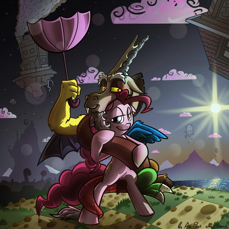 Pinkie wears Discord by Az-Pekt