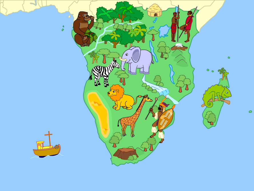 South Of Africa Mute Physical Map By Fernikart On DeviantArt - South africa physical map