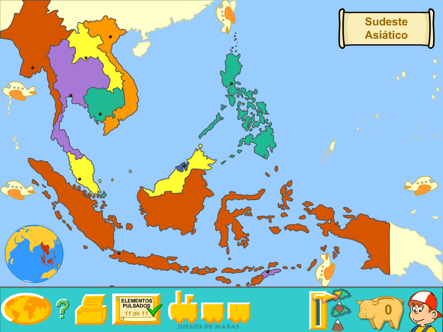 southeast asia political map by fernikart57
