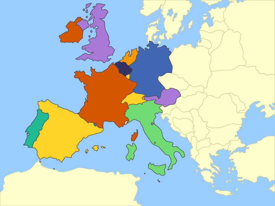 Western Europe Mute Political Map By Fernikart On DeviantArt - Western europe map