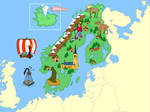 Scandinavia (Mute Physical Map)