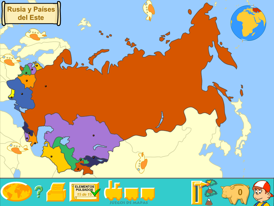Russia And Eastern Countries (Political Map) by Fernikart57 on ...
