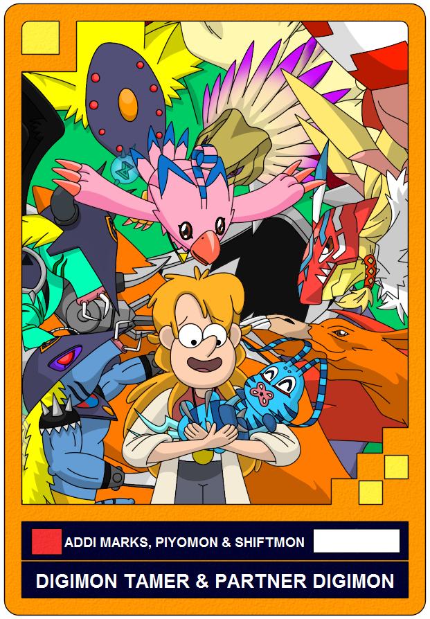 Digimon AU: Addi Marks, Piyomon and Shiftmon by Fernikart57