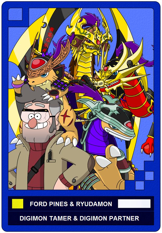 Digimon AU: Grunkle Ford and Ryudamon by Fernikart57