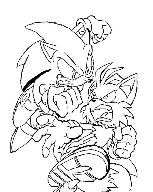 sonic and tails coloring pages - photo#28