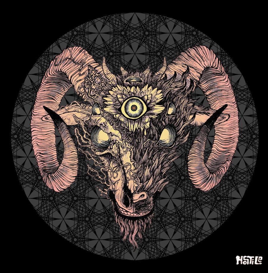 Satanic Goat Head Wallpaper