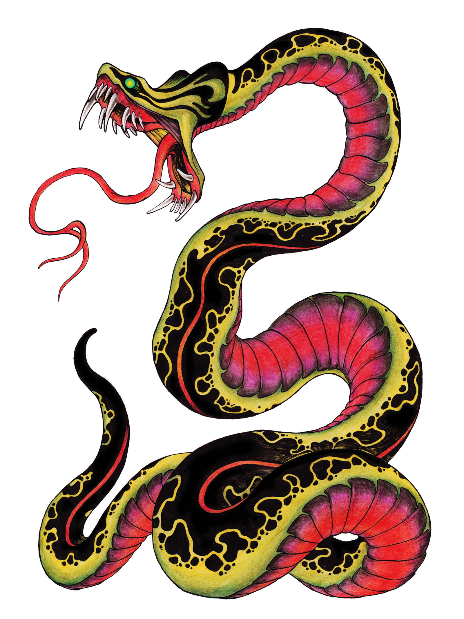 snake tattoo design by burke5 designs interfaces tattoo design 2013 ...