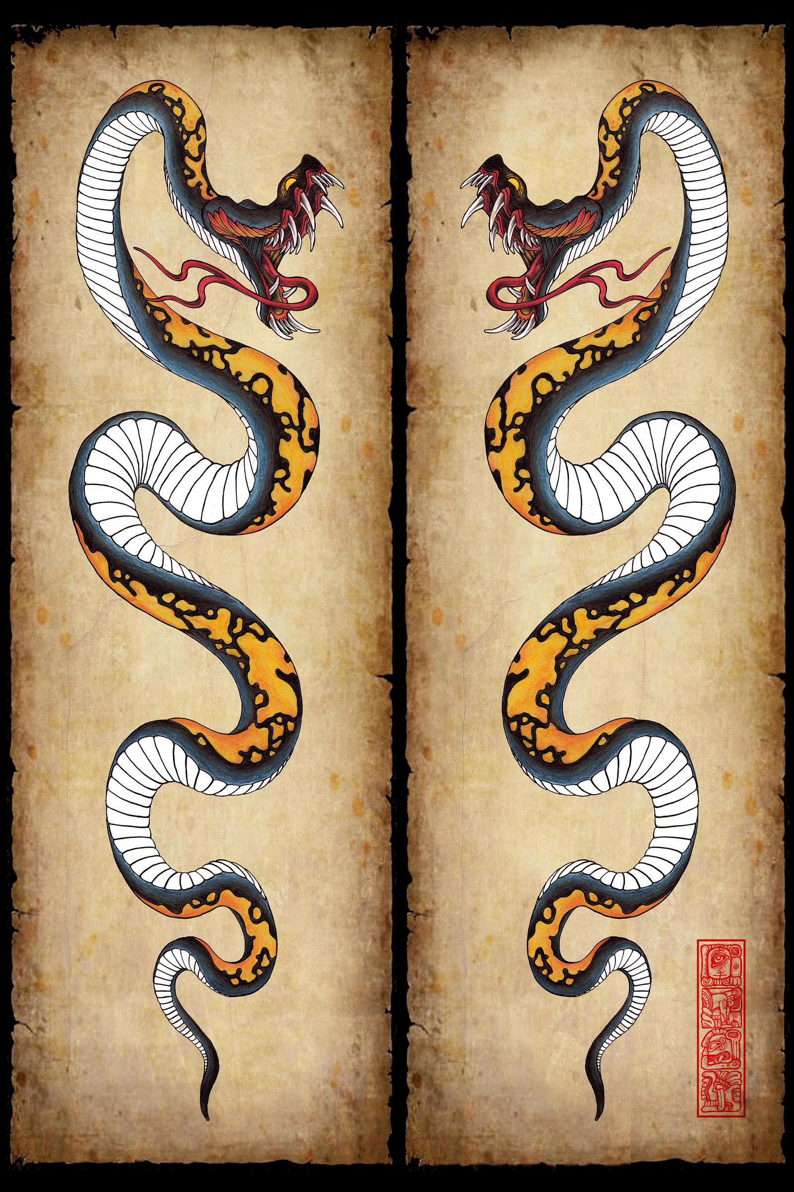 Snake Tattoo Design By Burke5 On DeviantArt