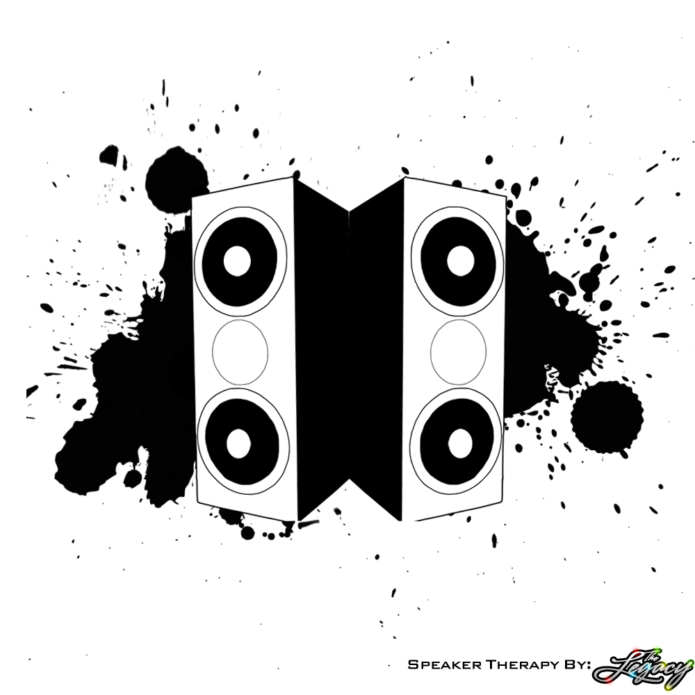 Speaker Therapy LP BW by TFE-Aka-TheLegacy on DeviantArt