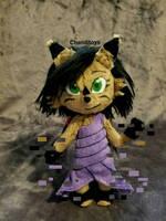 Commission: Nicole the Holo-Lynx Plush