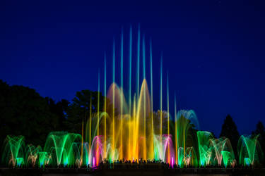 Illuminated Fountains 1 by Earth-Divine