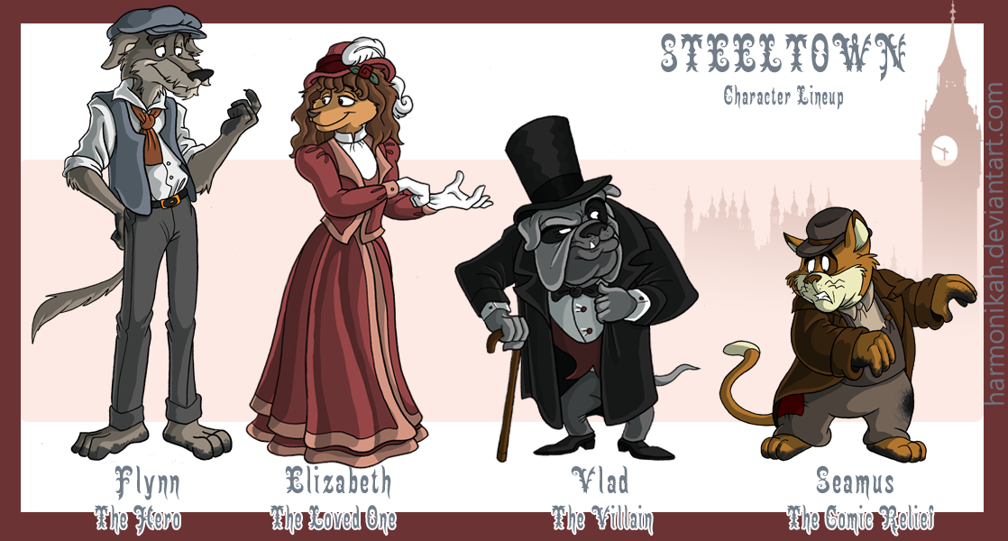 Victorian England Character Designs by Harmonikah