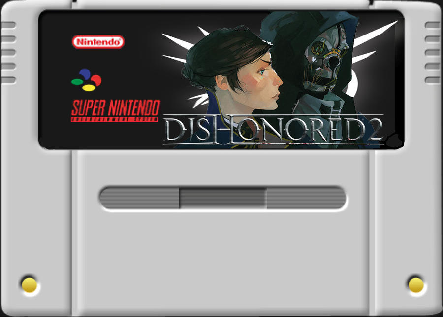 Dishonored II Snes cartridge by LOrdalie