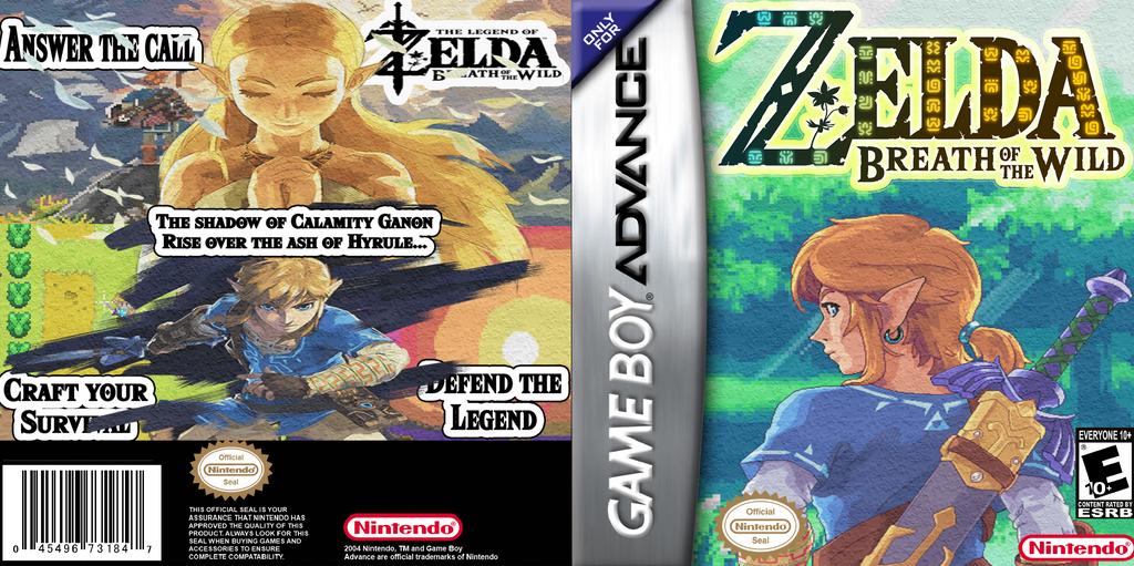 Zelda Breath Of Wild Game Boy Advance by LOrdalie