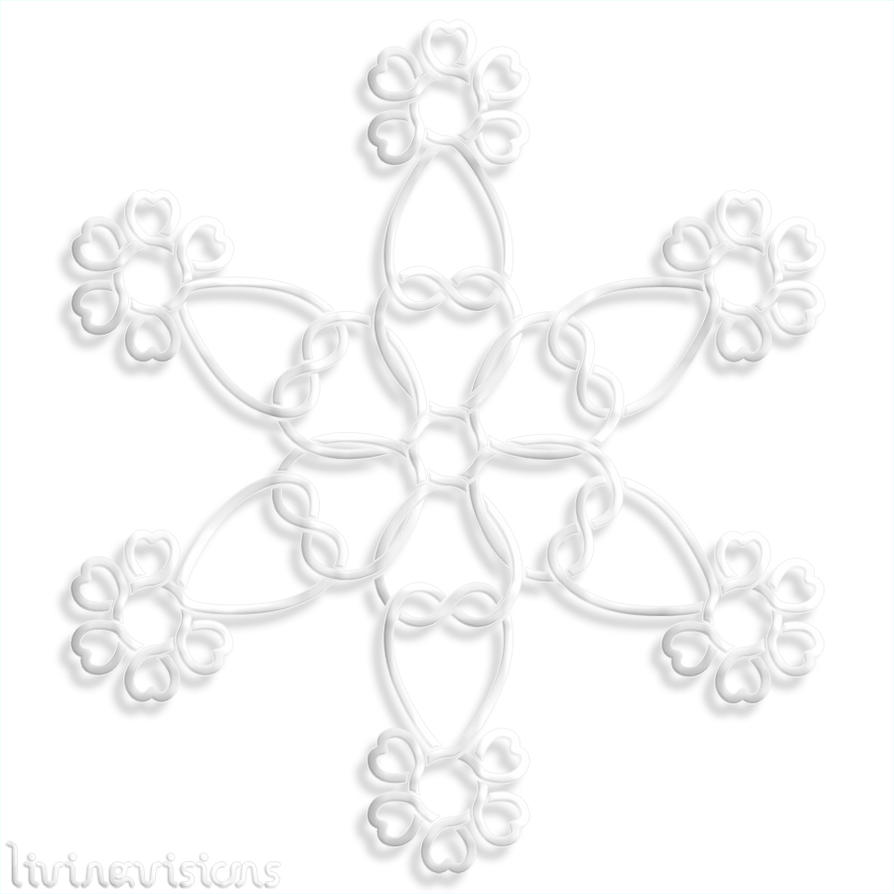 Celtic Heart Knot Snow Crystal 20151208 900 by Livingvisions