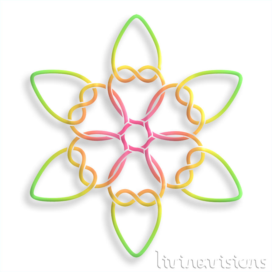 CELTIC HEART KNOT 20151014 smaller colourful 02 by Livingvisions