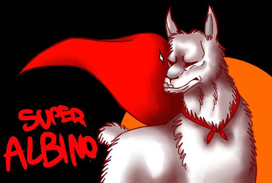 SUPER ALBINO LLAMA BADGE by CrashSpyro98