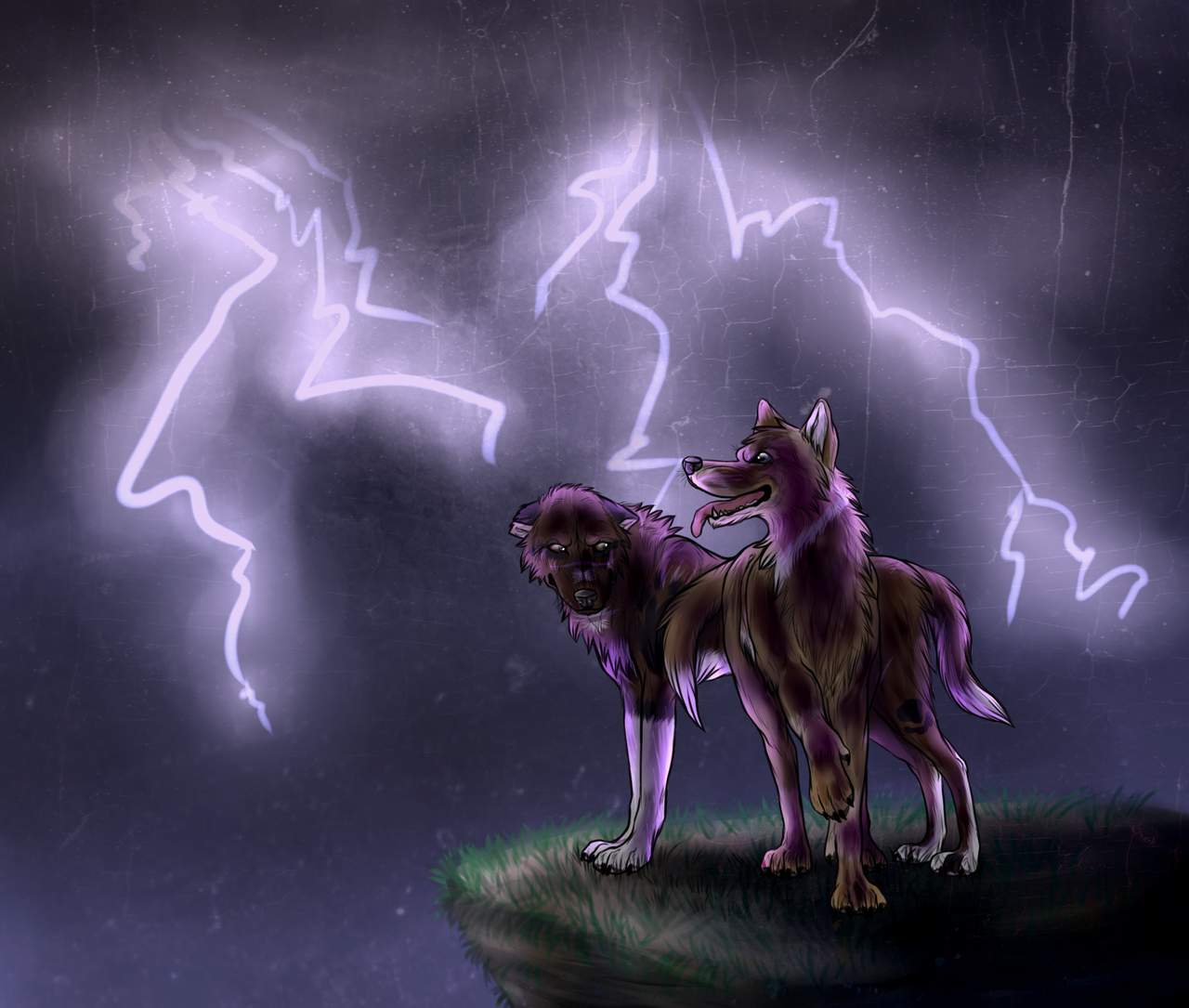 wolves and lightning wallpapers - photo #22